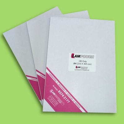 A4 100 Micron Matt/Gloss BULK