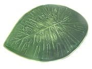 Monsterio leaf platter with feet in dark green