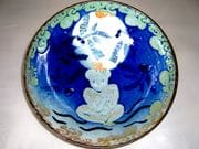 Full moon with dragonfly and Buddha salad bowl
