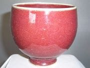 Teabowl in ox blood glaze
