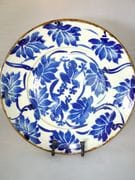 Lotus platter in blue and white
