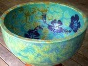 Hibiscus bowl in turquoise