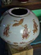 Large Shino Jar with rutile dancing images.