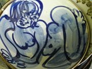Cobalt blue nude Bowl.