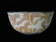 Large bowl with rutile decoration