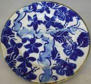 Large dinner plates with cobalt and underglaze blue.