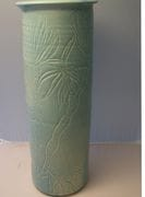 Pale green heliconia vase.