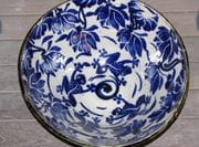 Cobalt bowl.