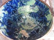 Frog Bowl with cobalt and rutile on Shino glaze. 2009.