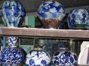 Studio image of blossom jars, 2009.
