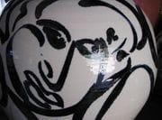 Indigo face from Blossom Jar.