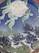 Detail of centre of frog-leaping Platter.