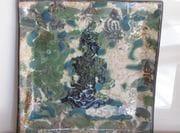 Square plate.  In the divine garden. Sept. 2009.