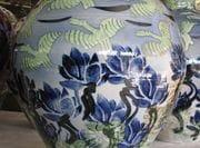 Closeup of Lotus Jar.