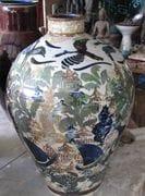Large tall Jar with Paradise Island design.  2009.