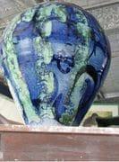 Blue/Green Tall Blossom Jar,  2009.