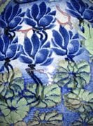 Detail of large Blossom Jar with Blue Lotus theme.  2009.