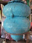 Turquoise crater glaze  Amphora.   2009.