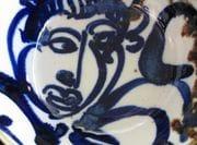 Blue figure bowl.