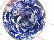 Cobalt design frog pond bowl.