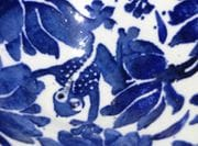 Closeup of design on salad bowl.
