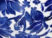 Closeup of design on salad bowl.