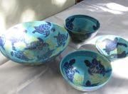 A group of bowls from the May 2010 kiln.