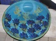 Turquoise lotus lagoon platter,
