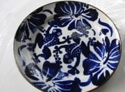 Large dinner plate with cobalt design.