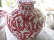 Red coral Ginger Jar.