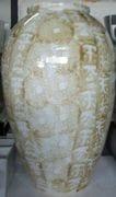 Tall blossom Jar in Ivory glaze.
