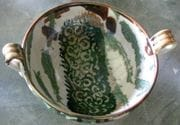 Banksia soup bowl with two handles.