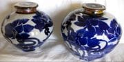 Ginger Jars. Michael Pugh. Cobalt design.