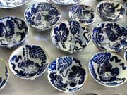 Noodle bowls high fired with cobalt design.