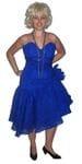 Eighties blue dress