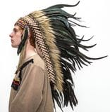 Indian Headdress Black - Brown    $98