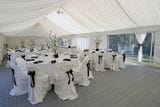 BLACK AND WHITE RECEPTION SEATED