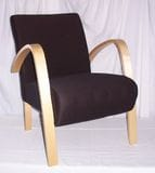 ARMCHAIR, WOODEN ARMS