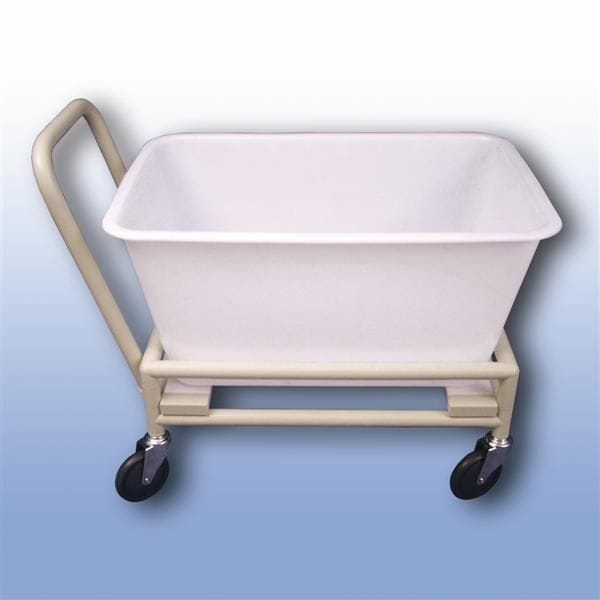 Contaminated waste bag trolley