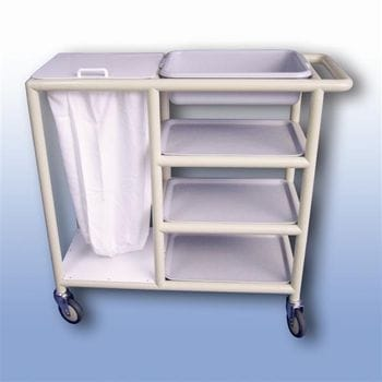 Utility trolley (4 x shelf with trays)