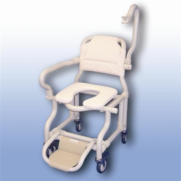 Large deluxe mobile shower chair