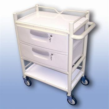 Lockable 2 draw trolley