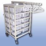 Compact Laundry Valet Trolley - Small Basket (x20)