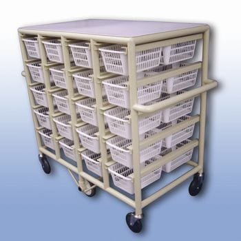 Compact Laundry Valet Trolley - Small Basket (x40)