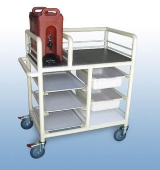 "The ""Lainie"" 2 x Bay, single urn trolley"