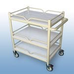 Multi-Purpose Trolley 3 x shelf + 4 x Guard rails