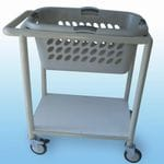 71Litre Laundry Basket Trolley