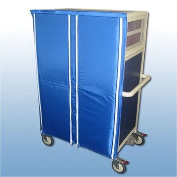 Double Bay 16 x Enclosed tray service trolley with thermal door covers