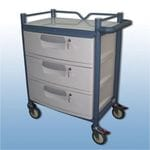 Lockable 3 draw trolley