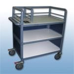 3 Shelf enclosed single urn trolley